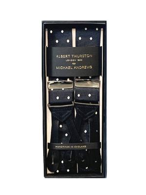 Black Suspenders w White Dots