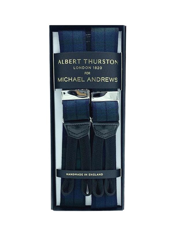 Blackwatch Wool Suspenders