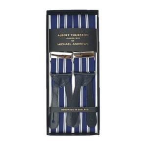 Blue & White Rep Stripe Suspenders