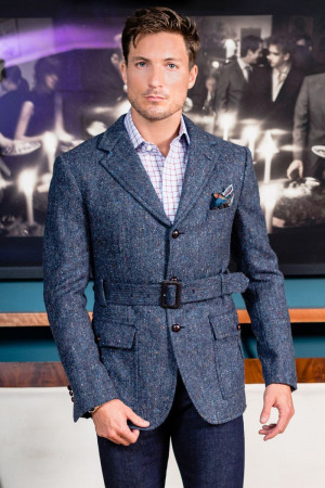 "Blue Donegal Tweed ""Cotswald"" Sport Coat"