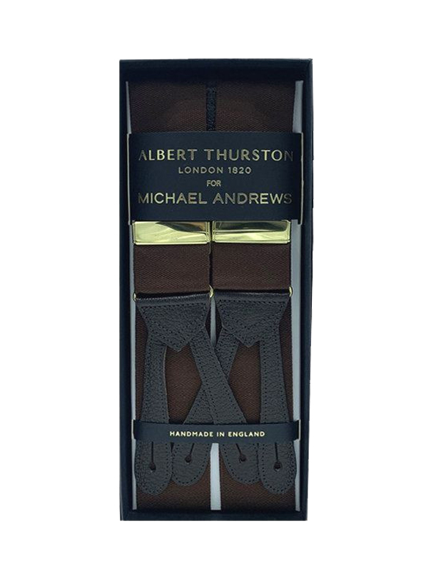 Brown Solid Suspenders