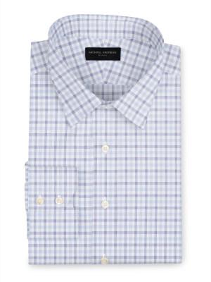 Blue & Purple Check Broadcloth Dress Shirt