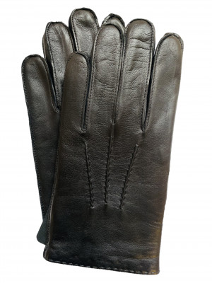 Handsewn Lambskin Black Dress Gloves