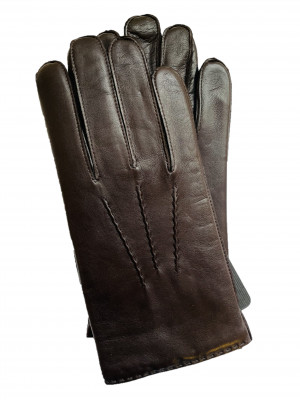 Handsewn Lambskin Brown Dress Gloves