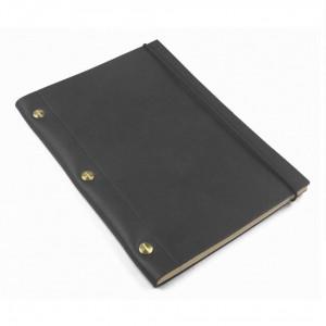 Robusto Black La Compagnie du Kraft Leather Notebook