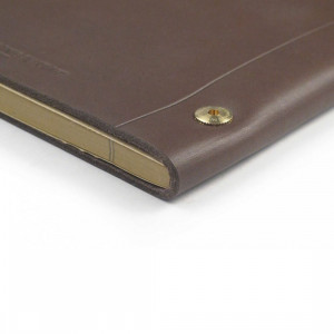 Peru Brown La Compagnie du Kraft Smooth Leather Notebook