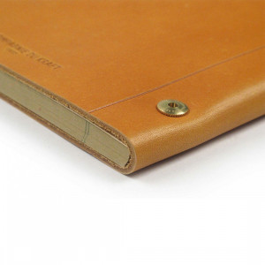Gold La Compagnie du Kraft Leather Notebook