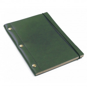 Green La Compagnie du Kraft Smooth Leather Notebook