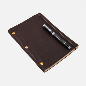 Cohiba Dark Brown La Compagnie du Kraft Grained Leather Notebook