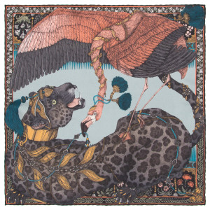 The Panther And Flamingo Prussian/Lychee