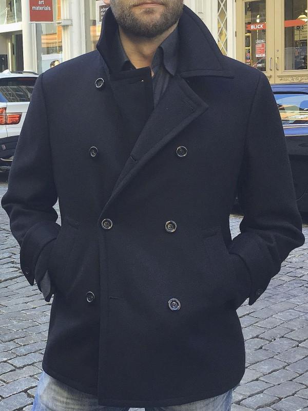 Navy Wool Pea Coat