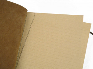La Compagnie du Kraft Notebook Refill - Brown Lined