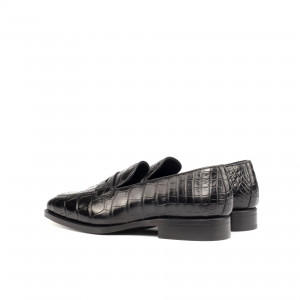 Black Alligator Loafer