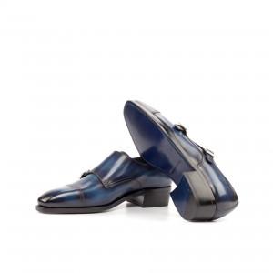 Denim Crust Patina Double Monk w/ Cuban Heel