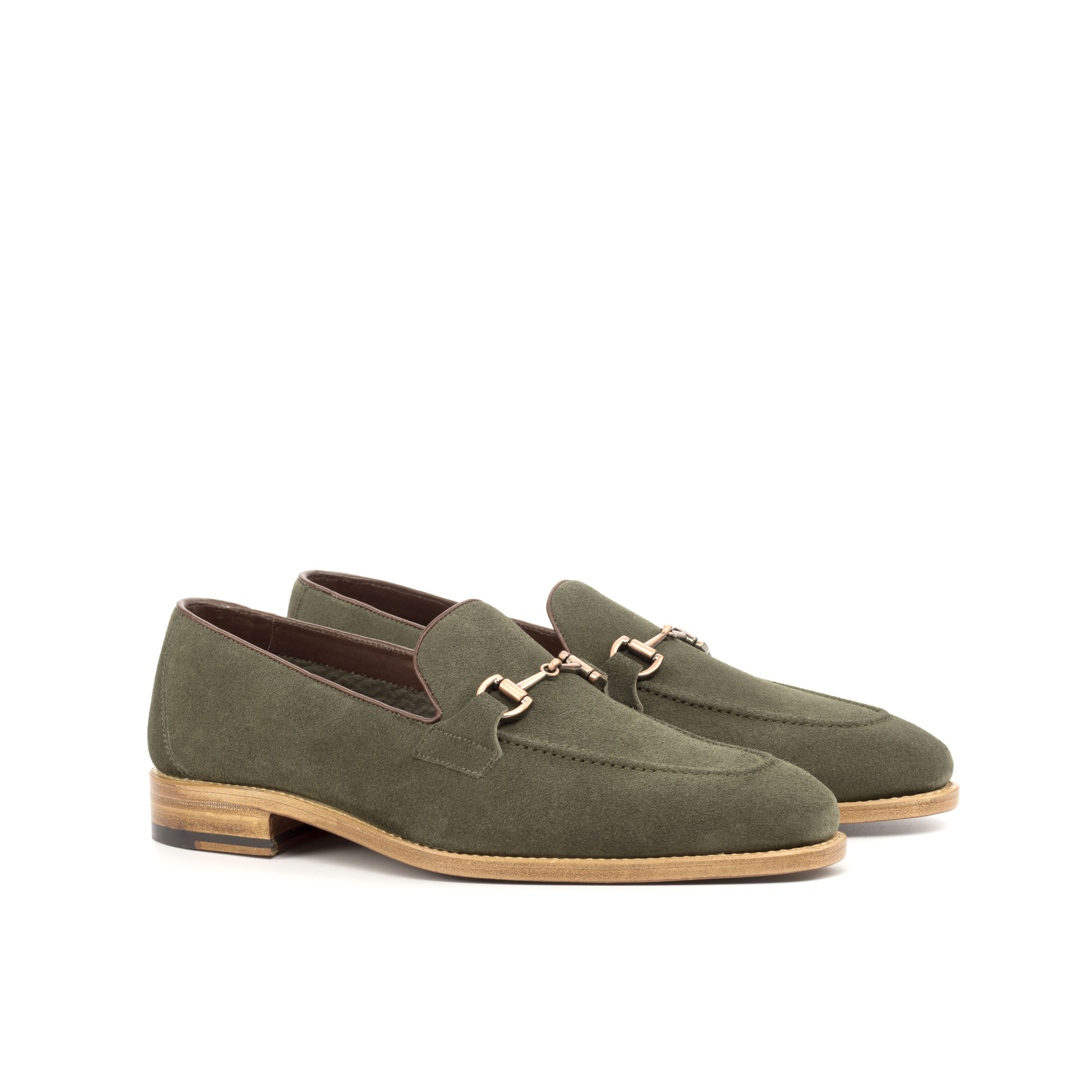Khaki Suede Flex Loafer