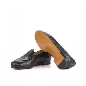 Black Python Belgian Slipper