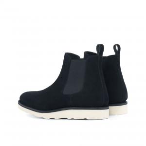 Black Suede Chelsea Boot w/ Comfort Sole