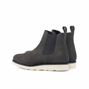 Grey Suede Chelsea Boot w/ Comfort Sole