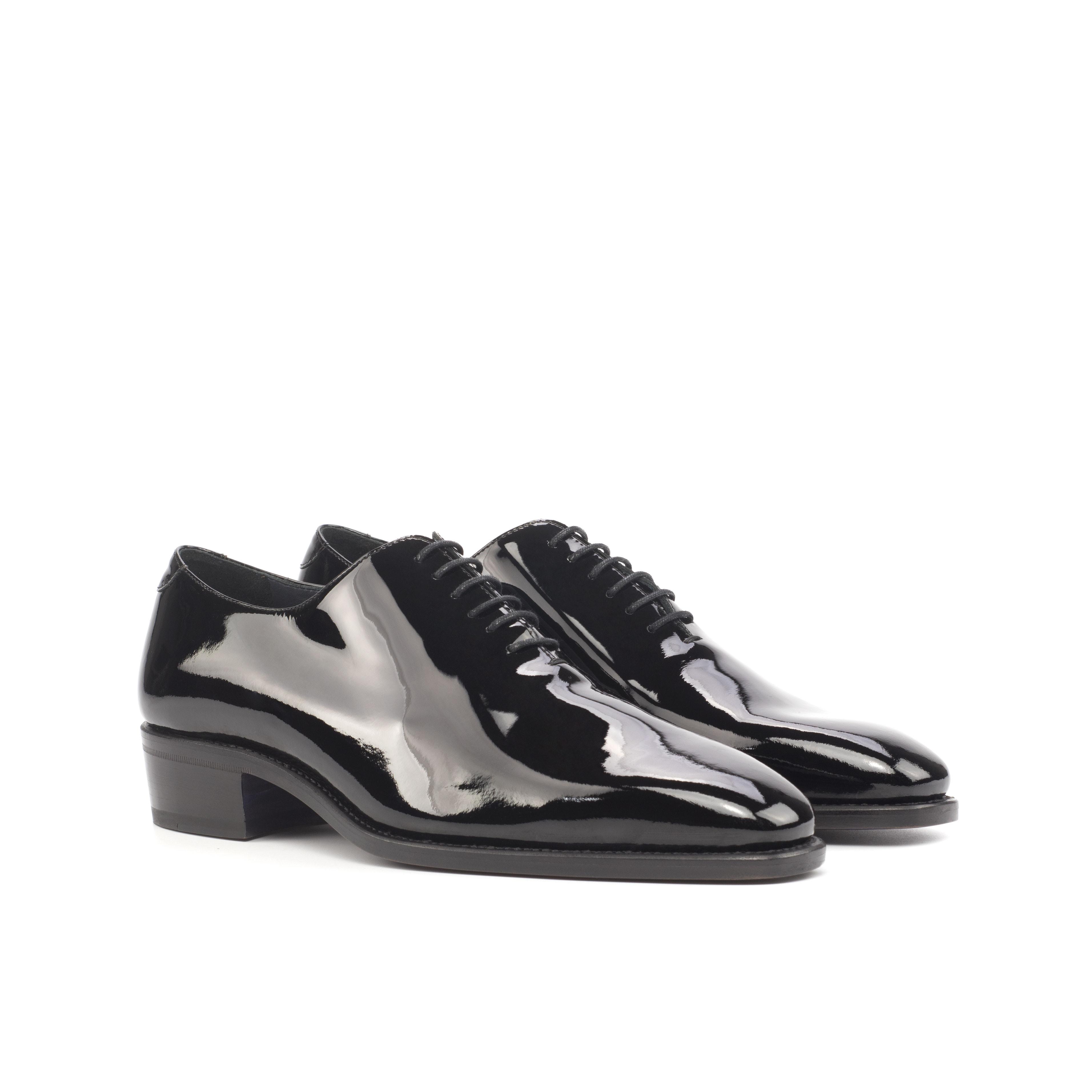 Black Patent Whole Cut w/ Cuban Heel