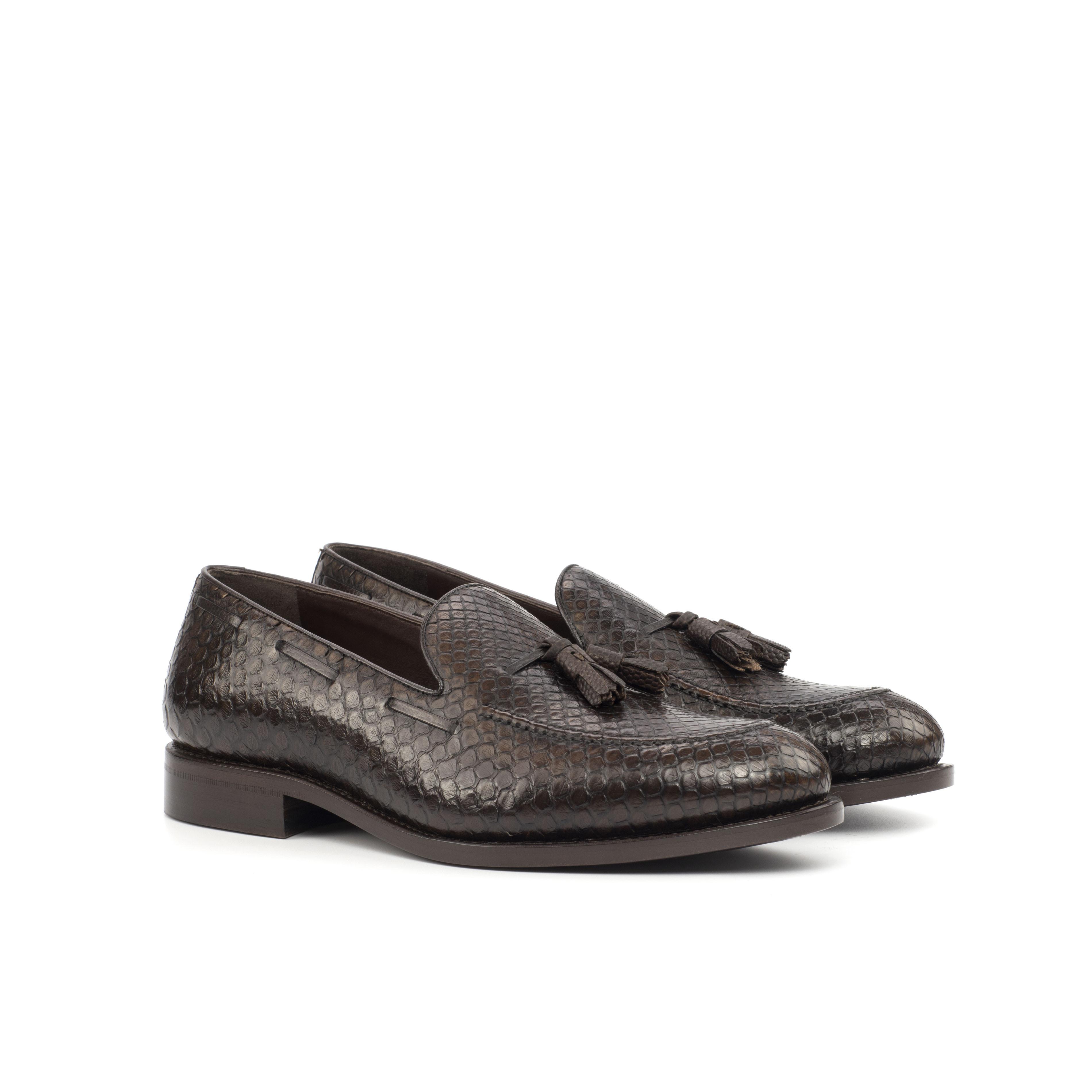Dark Brown Python Loafer