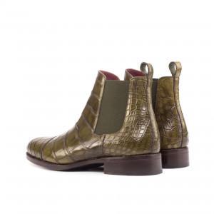 Olive Alligator Chelsea Boot Classic