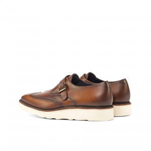 Med Brown Painted Calf Single Monk