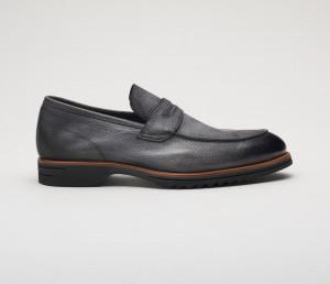 Brera Bottelato Leather Loafer in Fumo