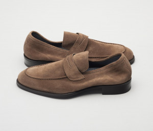 Brera Suede Loafer in Farro