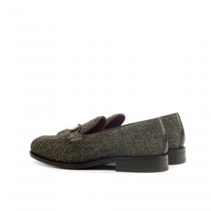 Hunter Green Herringbone Tweed Bit Loafer