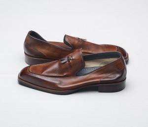 Cordusio Tabacco Men's Tassel Loafers