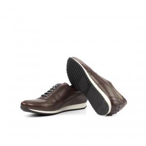 Dark Brown Box Calf Corsini Sneaker