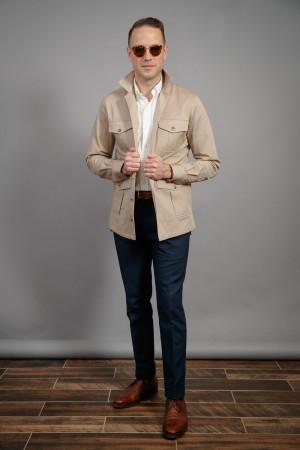 Khaki Heavy Duty Cotton Safari Shirt Jacket