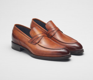 Firenze Leather Loafer in Marmo