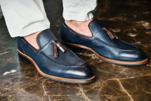 Napoli Navy  Men's Tassel Loafers