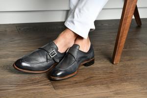 Parma Smoke Monk Strap Shoes