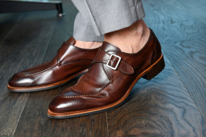 Parma Clay'd Bolet  Monk Strap Shoes