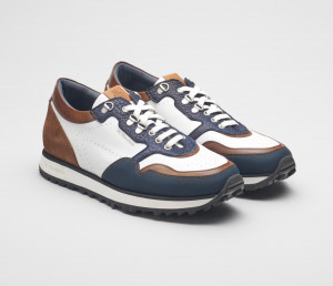 Potenza Bison Leather Sneakers for Men