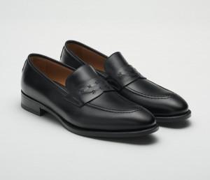 Rimini Leather Deco Loafer in Nero