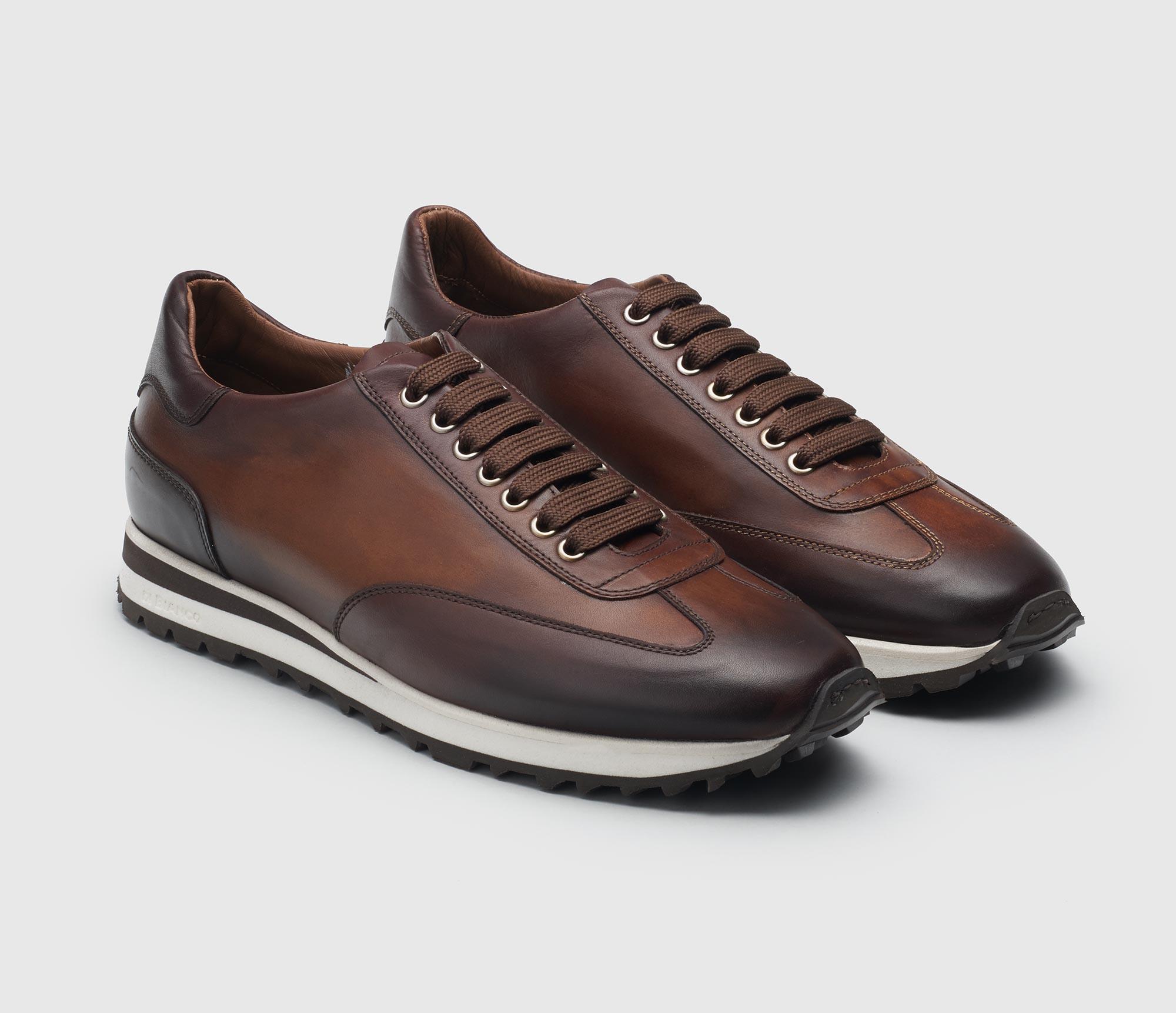 Trieste Reverse Sombrero Leather Sneakers for Men