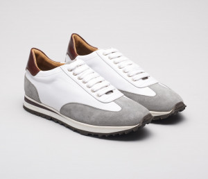 Trieste White Leather Sneakers