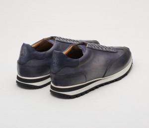 Trieste Smoke Leather Sneakers for Men