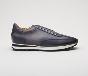 Trieste Smoke Leather Sneakers for Men