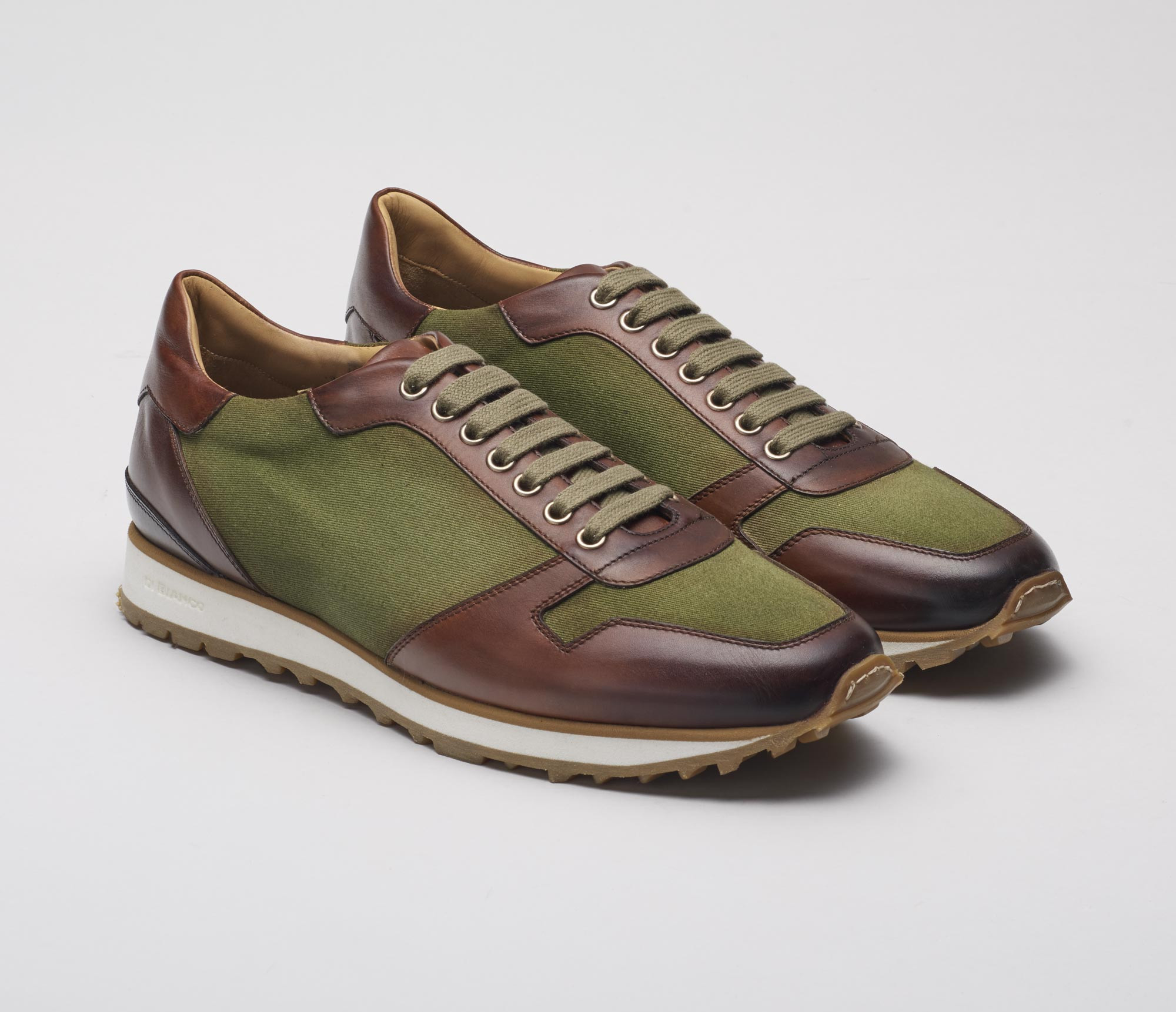 Roma Verde Leather Sneakers for Men