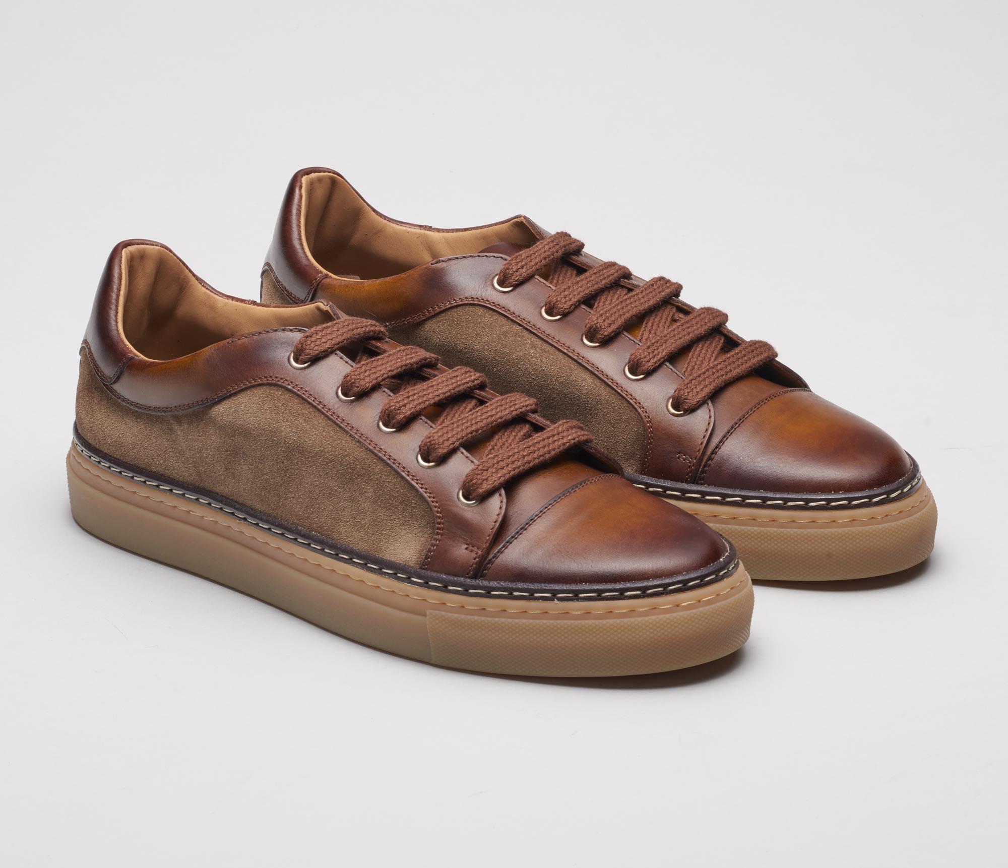 Messina Sesamo Leather Sneakers for Men