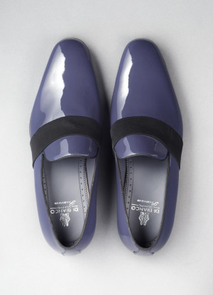 Andria Patent Leather Loafer in Navy