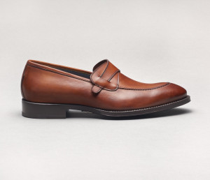 Brienza Leather Loafer in Cacao