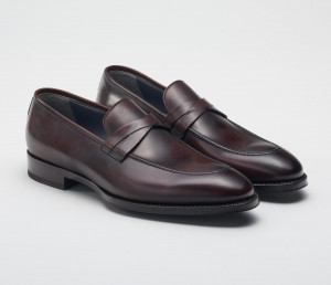 Siena Leather Loafer in Nero Fondente