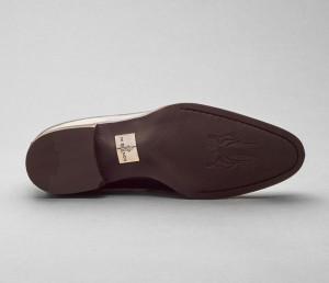 Salerno Leather Deco Loafer in Nero