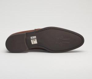 Modica Leather Bahia Monkstrap in Reverse Sombrero