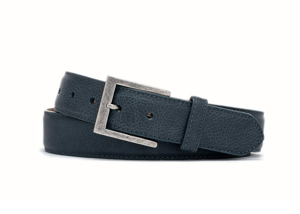 Jean Outlaw Calf Belt with Antique Nickel Buckle